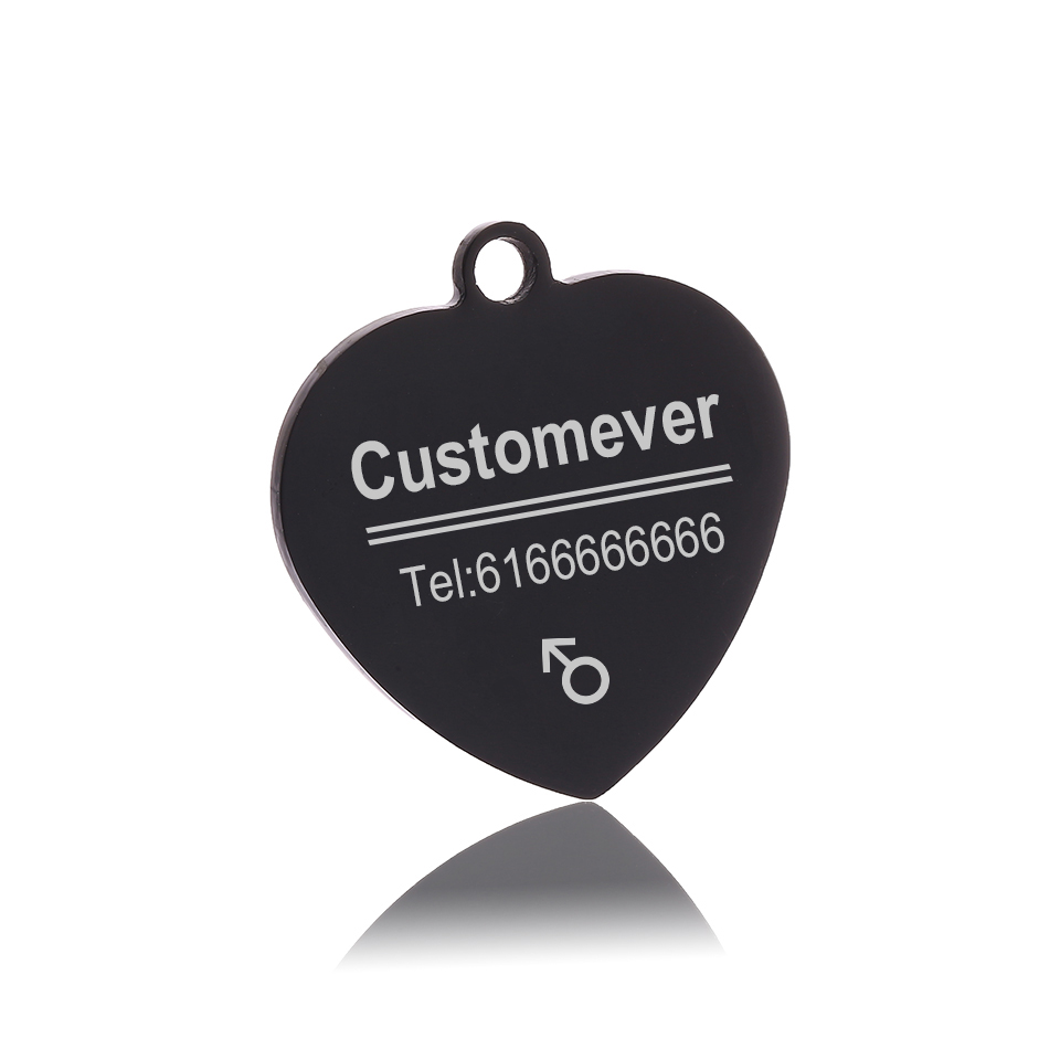 Custom Dog Tags in Rose Gold Silver or Black Engraved Stainless Steel Pet ID Cat Tag Name Dog Bone Personalized Dog Collar Tag 4