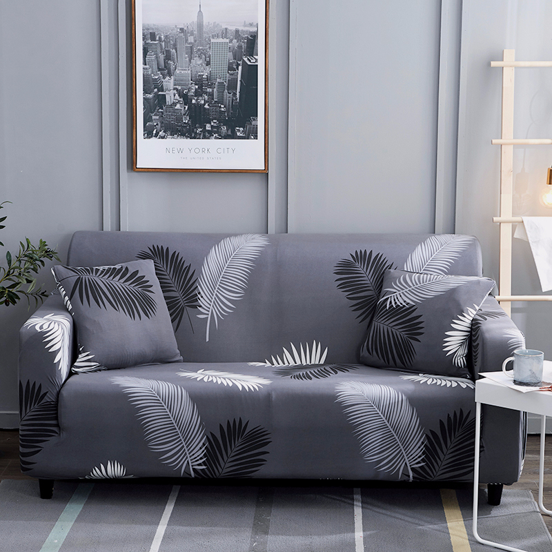 Elegant Stretch Sofa Cover Armchair Slipcover For Living Room 1/2/3/4 Seat Elastic Couch Cover Home Decor 45*45cm Cushion Cover