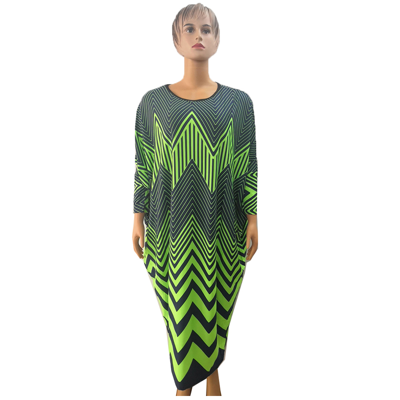MD African Dresses For Women Dashiki Print Robe Africaine Femme Grand Taille Elegant African Women Dress Free Size Kanga Clothes