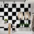 Q QIHANG современные минималистичные черно-белые квадратные решетчатые квадратные обои для телевизора, спальни, гостиной, 0,53 М * 10 м = м2
