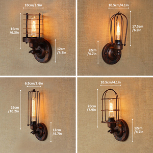 Image 5 - Vintage Industrial Wall Light,Rust Wall Lamp,светильник бра,Loft Wall Sconce Light Fixture 180° Adjustment,lampshade Up And Down