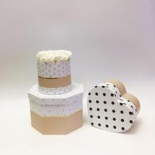 W7183-Multi-shape Набор Сердце-образный Круглый Холдинг баррель набор из трех предметов круглое мыло в подарочной коробке с подарочной коробкой