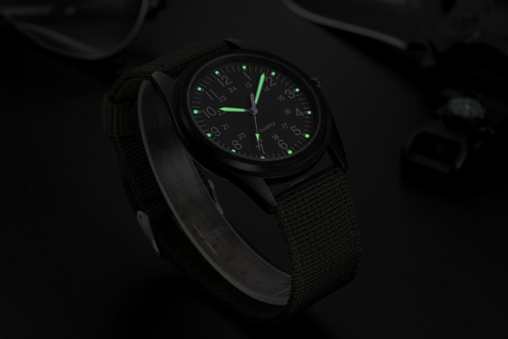 relógio verde fluorescente para homens, presente da semana de calendário