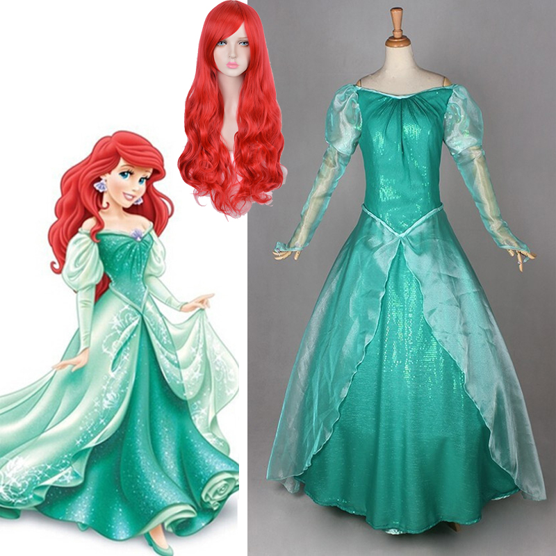 The Little Mermaid Ariel Princess Ariel Cosplay Costumes Women Mermaid Adults Girls Sexy Fantasia Halloween Wedding Party  Dress