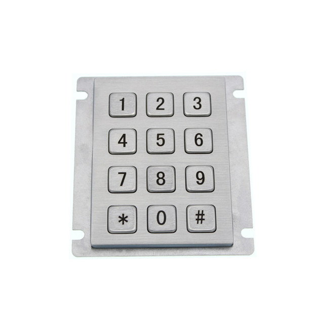 12 Keys 3x4 Matrix USB Kiosk Keypads Metal Stainless Steel Numeric Keypad For Access Control 1