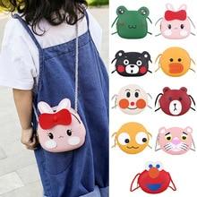 2019 de dibujos animados para bebés y niñas bolso escolar de cuero PU bolso de hombro bolso de mensajero Mini bolso bandolera pequeño