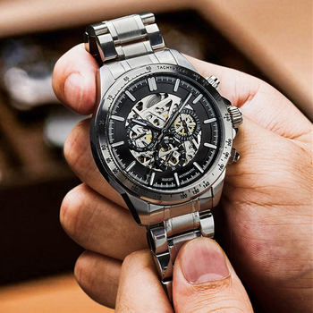 HAIQIN Skeleton Watch Men Mechanical Mens Watches Top Brand Luxury Watches For Men Automatic Wristwatch Waterproof Clock Relogio forsining golden skeleton mechanical watches men luxury brand watch automatic stainless steel casual wristwatch hollow out clock