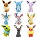 Хит продаж, плюшевые куклы Pokemon Eevee 20 см, моросеон Leafeon Umbreon зеркаon Jolteon Vaporeon Flareon игрушка сильвеон для детей