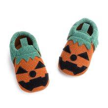 Детские ботинки на Хэллоуин для мальчиков и девочек хлопковые