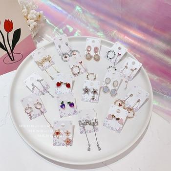 Pendientes colgantes con forma de mariposa para mujer, aretes, zirconia, circonita, Micro pavé, circón, flor, perla, borla, joyería