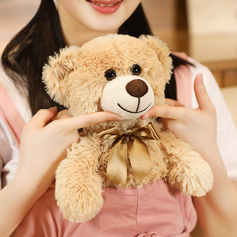 Small Teddy Bear Plush Toys For Girls Soft Cute Stuffed Animals Plushie Kawaii Room Decor Baby Companion Doll Gifts For Children Just6F