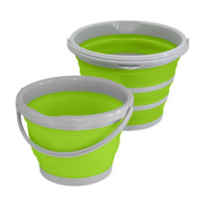 XYj Collapsible Silicone Folding Bucket Large Capicity Save Space Washabe Fishing Camping Car Bucket kitchen Bathroom Barrel(China)