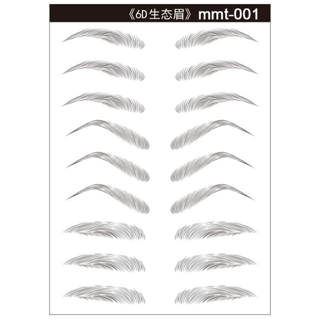 Magic 4D Hair-like Eyebrow Tattoo Sticker False Eyebrows 7 Day Long Lasting Super Waterproof Makeup Eye Brow Stickers Cosmetics 5