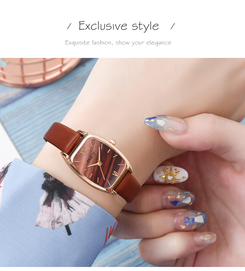 Exquisite small simple women dress watches retro leather female clock Top brand women's fashion mini design wristwatches clock H90fa7437357d459096e03e76210e16bbf