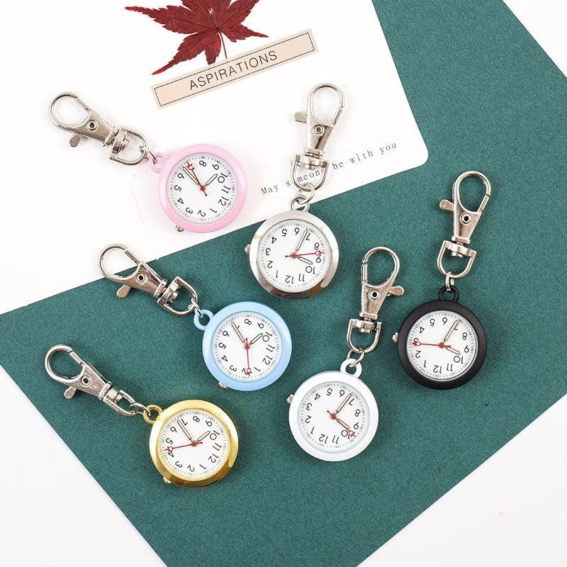 Clásico reloj de bolsillo Relojes FOB enfermera estudiante llavero de regalo sobre el examen médico de Oro al hospital Doctor Dropshipping