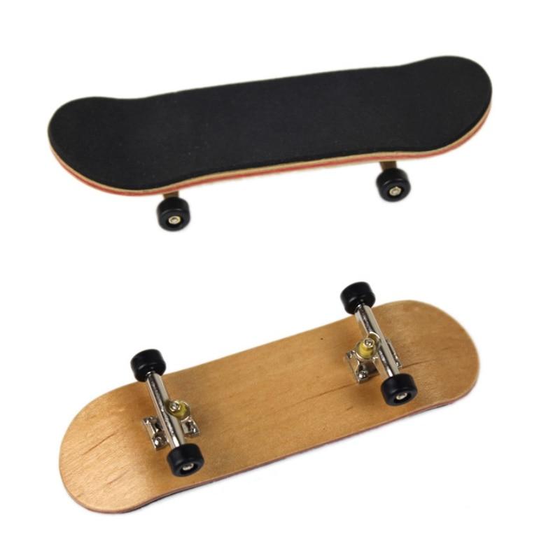 Professional Finger SkateBoard Wooden Fingerboard Wood Basic Fingerboars With Bearings Wheel Finger Skateboards Foam Tape Set.