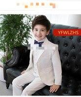 Handsome Two Buttons Notch Lapel Kid Complete Designer Handsome Boy Wedding Suit Boys' Attire Custom made (Jacket+Pants+Tie+Vest