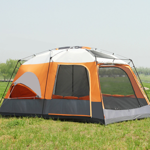 Image 2 - One Living Room Two Bedroom Ultralarge Double Layer Waterproof Family Outdoor Party Camping Tent Barraca Large Gazebo