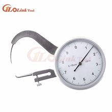 0-10mmx45mm quadrante calibro di spessore del tester del tester caliper dial gauge 0-10mm 0.05 millimetri Quadrante Snap Pinza Calibro