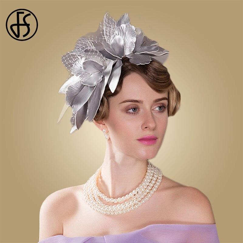 FS British Hat Women Fascinator For Wedding Party Tea Hats Ladies Formal Cocktail Derby Dress Hats Church Chapeau Fedora