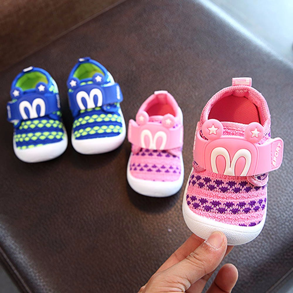Toddler Infant Kids Baby Cartoon Star Rabbit Ears Squeaky Single Shoes Sneaker