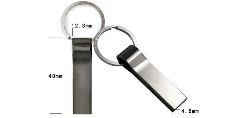 Ad alta velocità Pendrive USB flash drive 32GB 16GB 8GB metallo impermeabile pen drive 64gb 128gb con portachiavi USB flash drive
