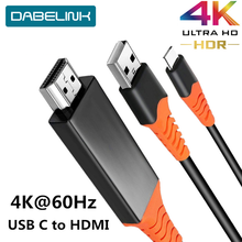 USB C to HDMI 4K 60Hz Cable Type C to HDMI Adapter Thunderbolt 3 For Macbook iPad 2018 Huawei P30 P20 Pro Video USB C HDMI Cable
