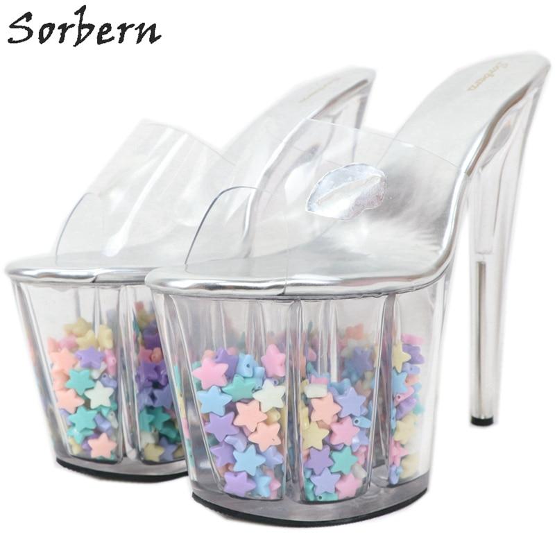 Sorbern Women Slippers 20cm Clear