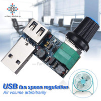 DC 5V USB Fan Governor Wind Speed Controller Regulator with Switch Speed Module Fan Governor Volume Regulator Drop Shipping