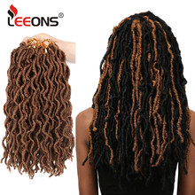 Leeons Top Quality Dreadlocks Crochet Hair Nu Locs Hair Extension Kanekalon Soft Goddess Locs Braiding Hair Synthetic Faux Locs(China)