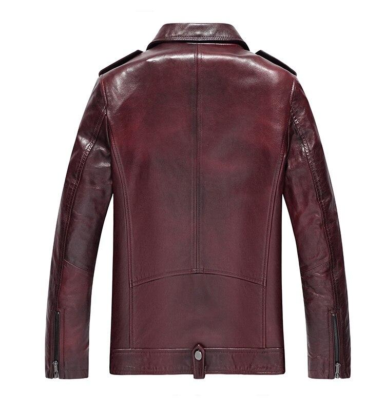 Men's Leather Jacket 2020 Autumn Winter Jacket Men Genuine Sheepskin Coat Mens Streetwear Jackets MG-1823015 MY1468