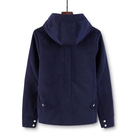 New 2020 Autumn Winter Men Woolen Coat Short Hooded Warm Male Trench Casual Coat Men Plus size Jacket Hot Slale LX1372