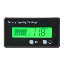 Waterproof 12/24/36/48V LCD Lead-acid Battery and Lithium Battery Capacity Tester Voltage Meter Monitor Green Backlight for Vehi цена и фото
