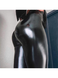 Leggings Latex Women's Pants Elastic Sexy Plus-Size Skinny for Butt