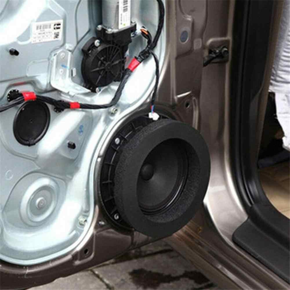 4PCS 자동차 도어 스피커베이스 링 거품 우퍼 패드 소음 사운드 웨이브 봉인 된 자동차 오디오 스피커 방음 코 튼