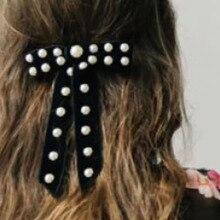 Individual luxury rhinestone dance headband New Baroque fashion pearl rhinestone flower bow hair band 799