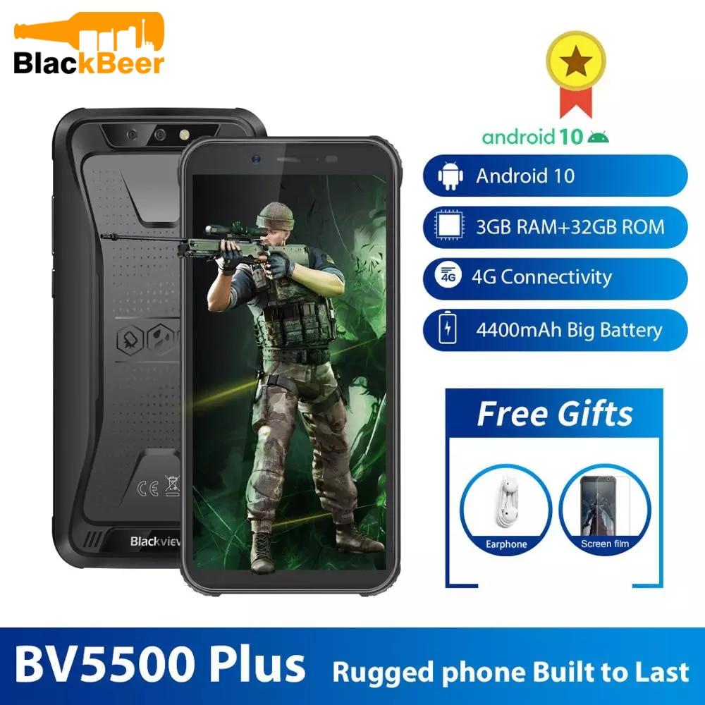 Blackview BV5500 плюс 5,5 дюймов 4G Прочный смартфон IP68 Водонепроницаемый, 3 Гб оперативной памяти, 32 Гб встроенной памяти, MTK6739 мобильный телефон Android ...