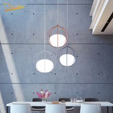 Modern LED Iron Art Round Pendant Lamp Lighting Nordic Pendant Lights Loft Living Room Dining Indoor Decor Hanging Lamp Fixtures new nordic led pendant lights lamp crystal metal pendant lamp modern lighting fixtures for dining room living room bar art deco