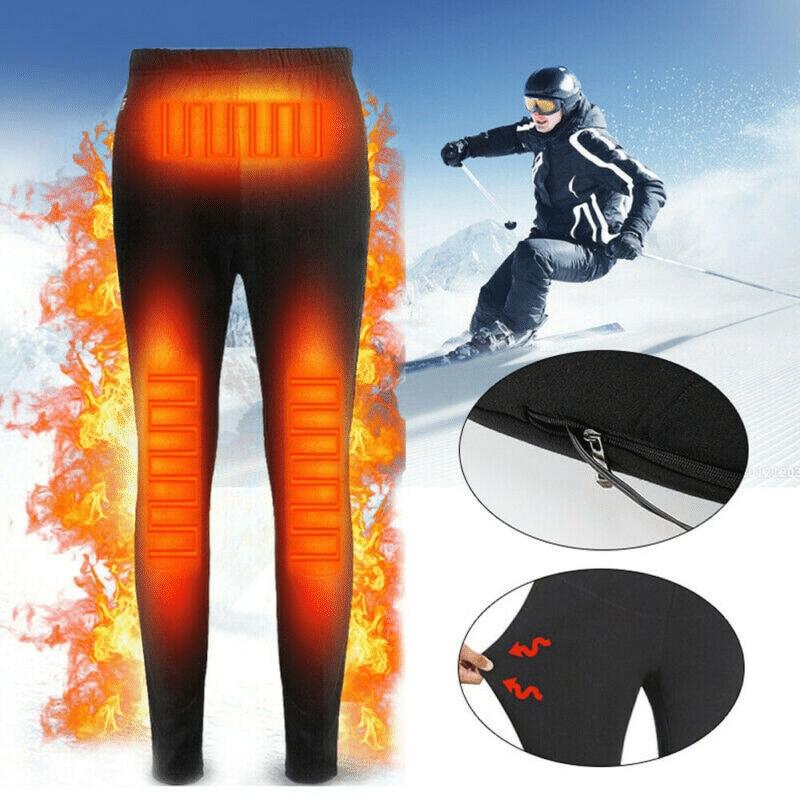 New Self Heating Thermals Pants Usb Electric Heated Warm Pants Winter Warmer Heating Trousers Elastic
