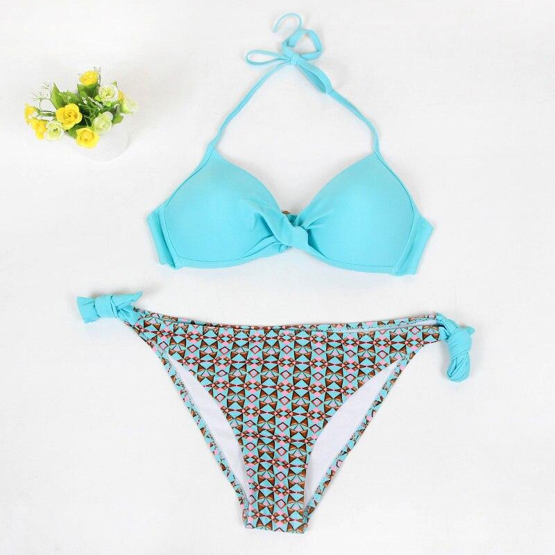 Thong Bikini 2019 Brazil Sexy Push Up Swimsuit Halter Fashion Swim Suit Low Waist Swimming Wear Pad UnderWire Swimwear Women Buy 4