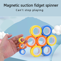 Anillo magnético de pulsera para descompresión, juguete para descompresión, anillo de utilería mágico