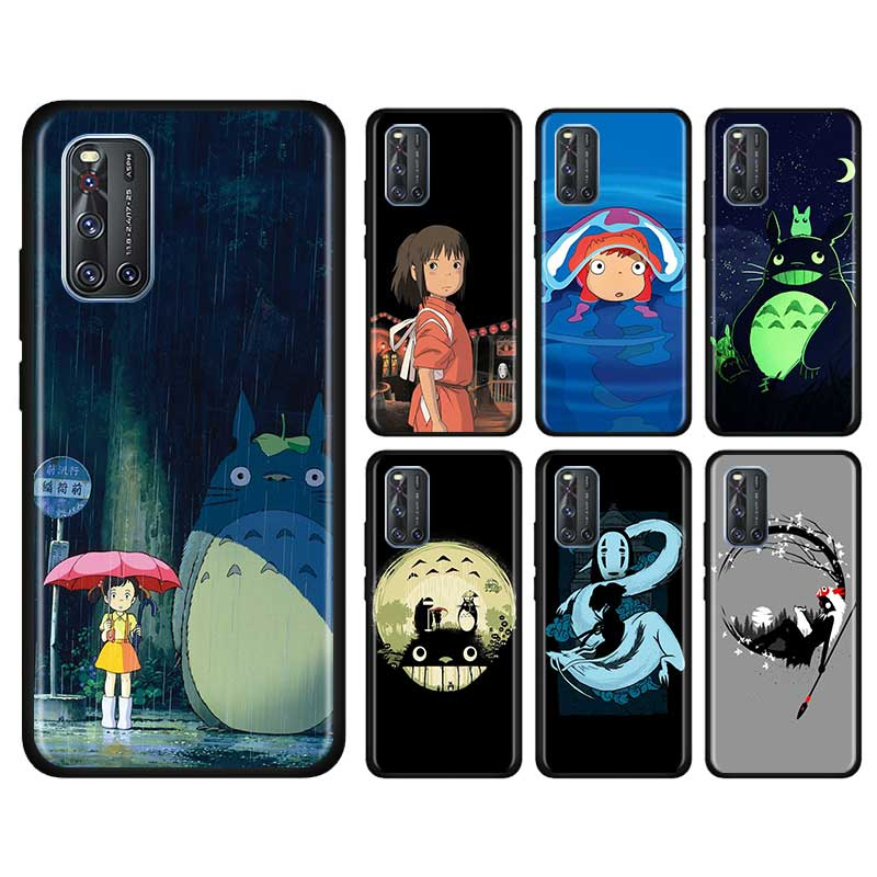 Thin Case For Vivo S1 Pro Y12 Y15 Pro Y17 Y19 Z6 5G Y30 Y50 V19 Iqoo 3 5G Z1 Phone Shell Cute Totoro Spirited Away Ghibli Anime