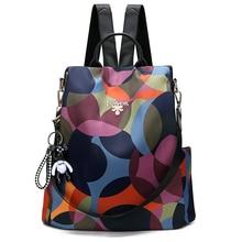 المرأة حقيبة السفر أكسفورد مقاوم للماء خفيفة الوزن الكتف في الهواء الطلق عادية مكافحة سرقة الحقائب المدرسية لفتاة في سن المراهقة