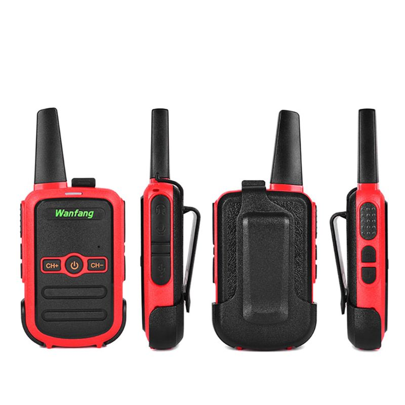 Walkie-talkie Professional Mini Color Ultra-thin Ultra-small USB Direct Charging