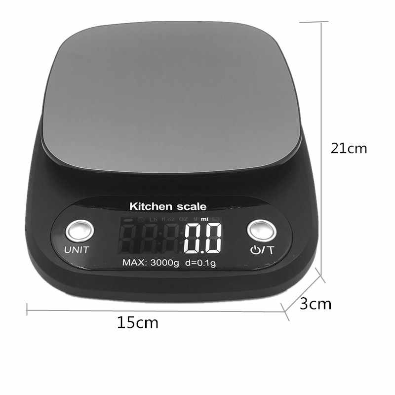10 kg/1g 3 kg/0.1g เครื่องชั่งดิจิตอล Backlight ครัวเรือนเครื่องประดับอาหารน้ำหนักอิเล็กทรอนิกส์ cooking Baking Scale 40% OFF