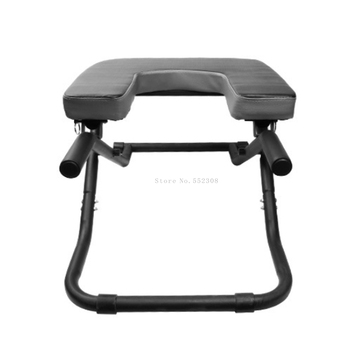 Foldable Yoga Chair Handstand Bench Therapy Exercise Fitness Stool Household Upside Down Workout Device Steel Inverted Bench