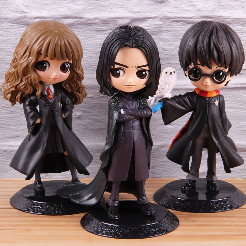Q Posket Hermione Granger Harry Severus Snape PVC Collectible Action Figure Q Version Model Toy QPosket Statues