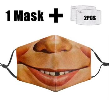 Fashion 3D Mask Funny Mouth Washable PM2.5 Filter Cover Face Reusable Dust Bacteria Proof Flu Masks