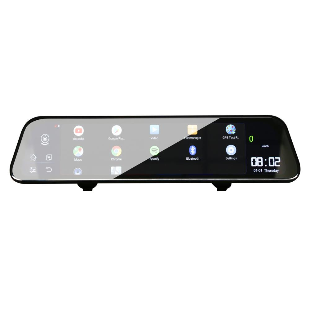 12 Polegada Android 8.1 Adas Dvrs Câmera Do Carro Traço Cam Gps Navi do Bluetooth Gravador de Vídeo Fhd 4G Wi fi Dvr espelho - 5