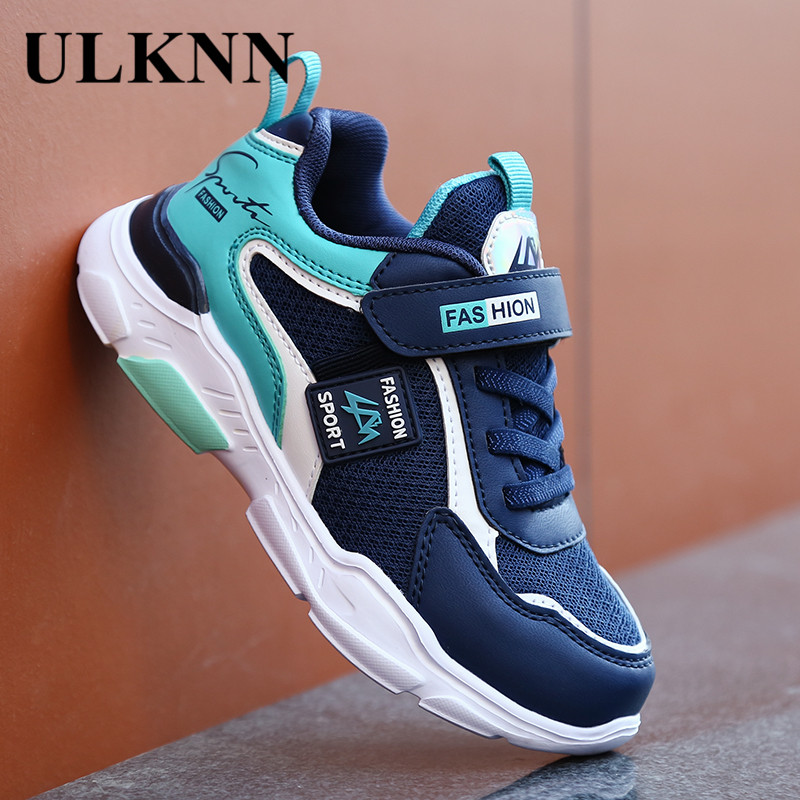 ULKNN KIDS Casual Shoes Lightweight Running Young STUDENT'S 2020 New Style Punched Sheet Surface Sports BOY'S Shoe
